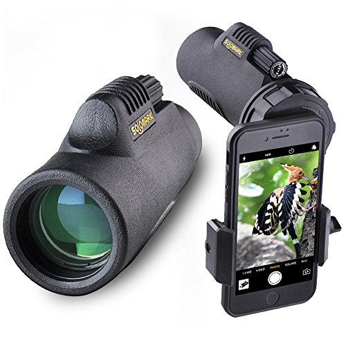 Solomark 8x32 Monocular with Digiscoping Photo Adapter - For Watching Games, Exhibition, Model Shows, Car Racing, Hiking,Climbing, Birdwatching, Watching Wildlife and Scenery by SOLOMARK