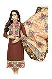 Da Facioun Indian Women Designer Partywear Ethnic Traditonal Brown Anarkali Salwar Kameez.