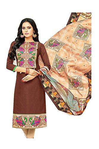 Da Facioun Indian Women Designer Partywear Ethnic Traditonal Brown Anarkali Salwar Kameez. by Da Facioun