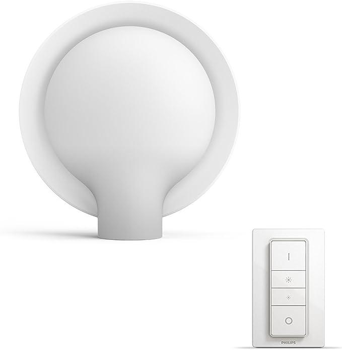 Philips Hue Led Tischleuchte Felicity Inkl Dimmschalter Dimmbar Alle Weißschattierungen Steuerbar Via App Weiß Kompatibel Mit Amazon Alexa Echo Echo Dot Beleuchtung