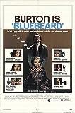 """Bluebeard 1972 Authentic 27"""" x 41"""" Original Movie Poster Fine Richard Burton Thriller U.S. One Sheet"""