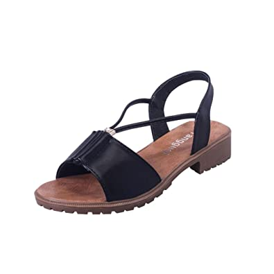 Summer Sandals Inkach Fashion Women Bohemia Sandals Leather Flat Shoes