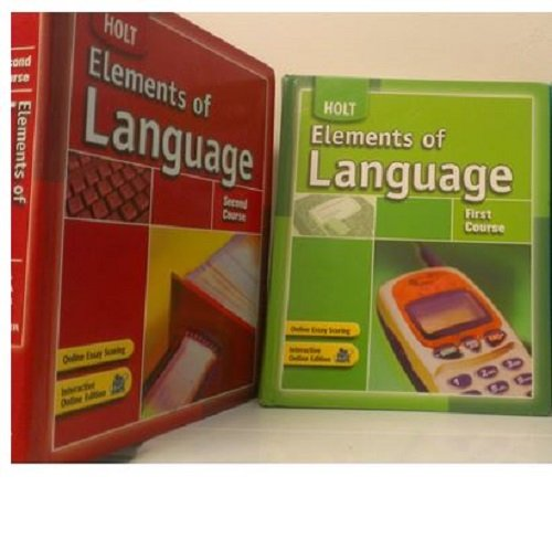 Download 2 Volumes of Holt Elements of Language: First Course 7th Grade and Second Course 8th Grade [Student Edition] pdf epub