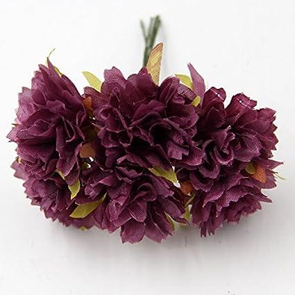 Buy Dark Purple 30pcs 13 Colors Silk Artificial Flowers Bouquet