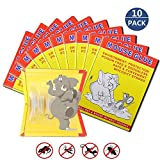 10 Pack/Mouse Glue Boards,Sticky Traps for Mice,Large Rat Glue Pads,Extra Sticky Traps