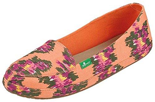 Sanuk Women's Blanche Prints Melon/Ikat Floral Flat 5 B (M)