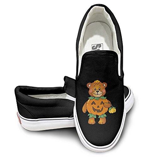 [NF18G Halloween Pumpkin Bear Funny Casual Sneaker Size39 Black] (Crosby Halloween Costume)