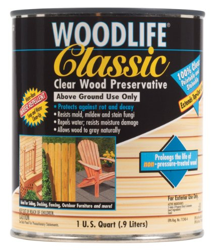 n Classic Clear Wood Preservative-Above Ground, Quart, Clear ()
