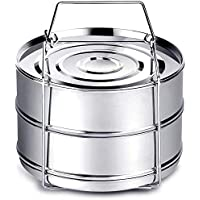 Instant Pot Accessories, Steamer Insert Pans for 6qt/ 8qt Pressure Cooker, BBing Stackable Stainless Steel Vegetable…