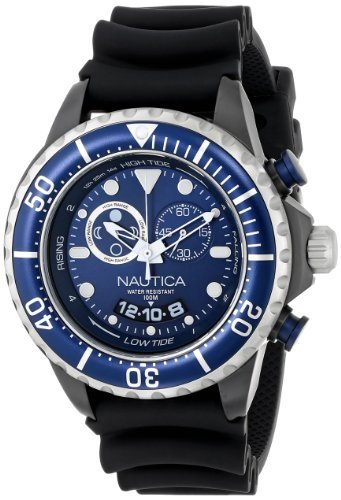 Nautica Men's N32600G NMX 650 Tide Analog Display Japanese Quartz Black Watch