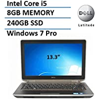 Dell Latitude E6320 13.3 Inch Business Laptop with Intel Core i5 2.5GHz, 8GB RAM, 240GB SSD, Windows 7 Professional (Certified Refurbished)