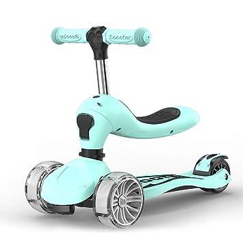 Amazon.com: ZBNMGHFT patinete infantil con cuatro ruedas que ...