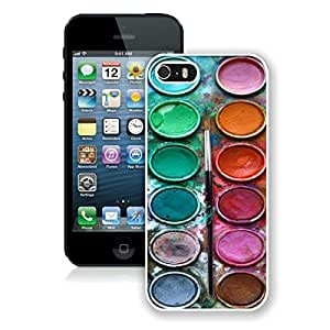 Amazing Apple Iphone 5s Case Watercolor Sets With Brushes Art Durable Soft TPU Silicone White Phone Cover for Iphone 5