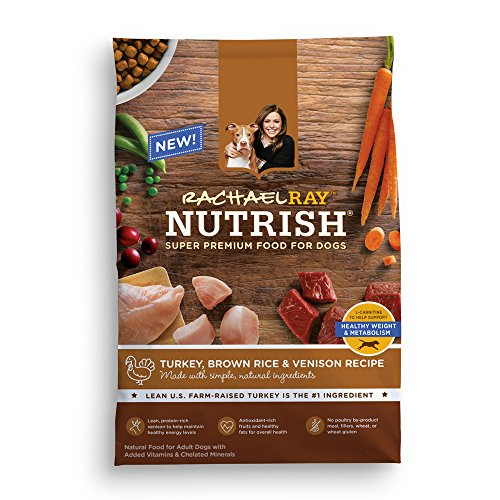 Rachael Ray Nutrish Natural Dry Dog Food, Turkey Brown Rice & Venison Recipe, 26 lb