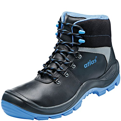 Atlas S3 Sicherheitsschuhe Arbeitsschuhe Stiefel SL 525 XP blue blau ESD Schwarz