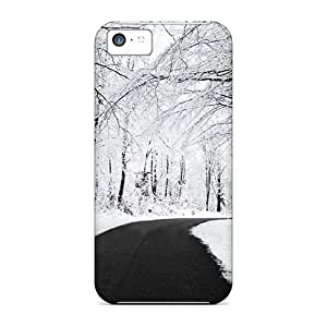 Awesome Design White Snow Road Hard Case Cover For Iphone 5c