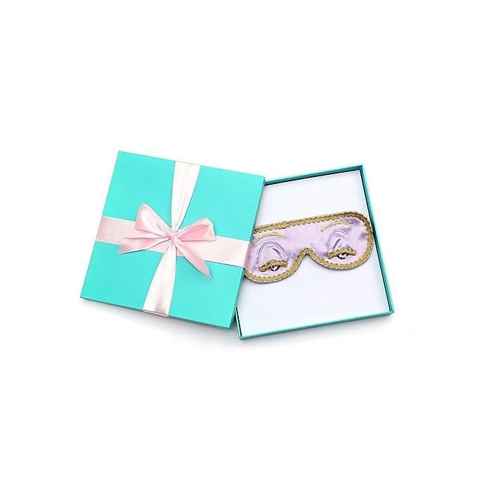 Regalo en caja Audrey Hepburn Desayuno en Tiffanys Sleep Mask Silk (Lavender Dream)