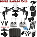 DJI Inspire 1 RAW Bundle with Zenmuse X5R & DJI Focus Wireless Follow Focus System, TB47B Intelligent Flight Battery, Remote Harness, Dual Remotes & more... from DJI