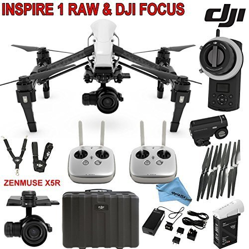 DJI Inspire 1 RAW Bundle with Zenmuse X5R & DJI Focus Wireless Follow Focus System, TB47B Intelligent Flight Battery, Remote Harness, Dual Remotes & more…