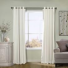 COFTY Off White 50Wx63L Inch (1 Panel) Solid Matt Velvet Curtain Drapes Super Soft - Nickle Grommet