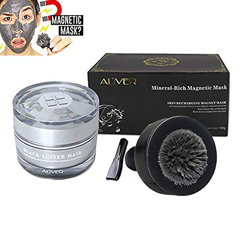 Magnetic Face Mask, Aliver Mineral-Rich Sea Mud Mask, Deep Cleansing Mask, Anti-aging, Anti-stress, Moisturizing Mask for Women and Men
