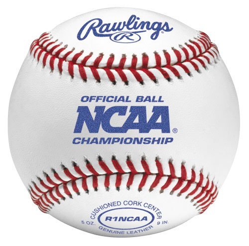 Rawlings Flat Seam Collegiate NCAA League Baseballs, 12 Count, FSR1NCAA by Rawlings