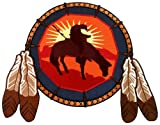 Dreamcatcher Embroidered Patch Native American End of the Trail Icon Large Iron-On Indian Symbol, Bags Central