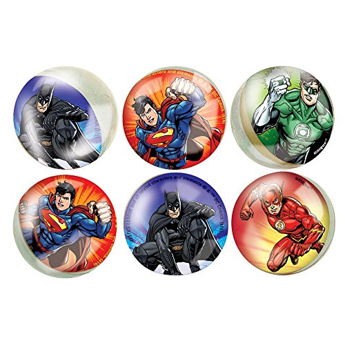Justice League Bouncy Ball Party Favors, 6ct (Ball Flash Bouncing)