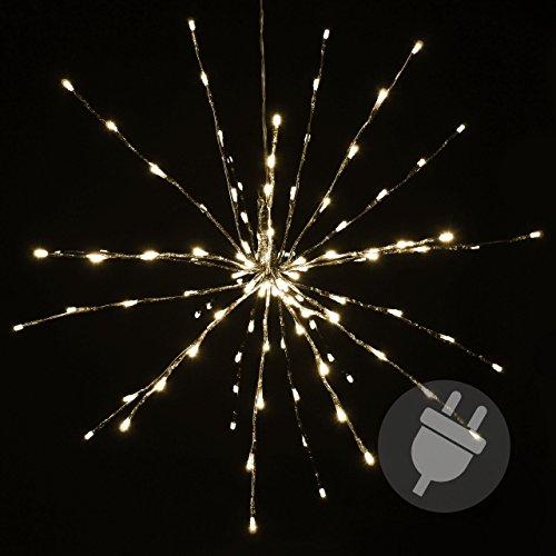 120 LED Meteor-Stern warm-weiß Innen Außen mit Trafo Weihnachtsstern zum Aufhängen Meteorschauer