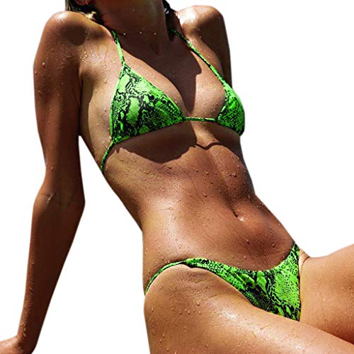 3bf4e6c08ec88 AMSKY Bathing Suits for Women Tankini,Sexy Womens High Waist Print Bikini  Set Swimwear Beach