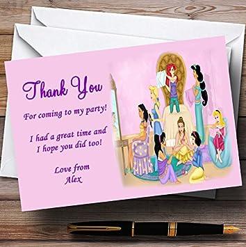 Pijama de princesa sueño personalizado maquillaje fiesta tarjetas de agradecimiento