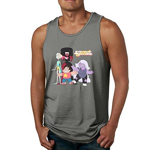 PGxln Steven Universe Poster Men's Loose Sleeveless Shirt Size S DeepHeather