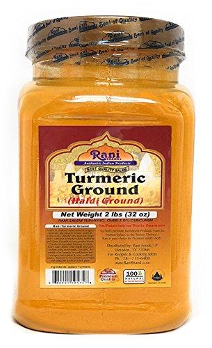 Rani Natural Turmeric (Haldi) Root Powder Spice, (High Curcumin Content) 32oz (2lbs) Bulk ~ 100% Pure, Salt Free | Vegan | Gluten Free Ingredients | NON-GMO | Indian Origin