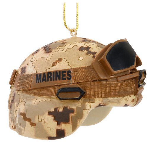 US Marine Corps USMC Camouflage Combat Helmet Christmas Ornament