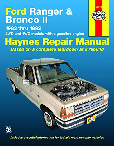 Haynes Automotive Repair Manual: Ford Ranger & Bronco II, 1983 thru 1992 (Haynes Repair Manuals)