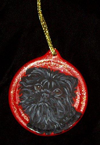 Affenpinscher Dog Gift Christmas Ornament Custom Hand Painted