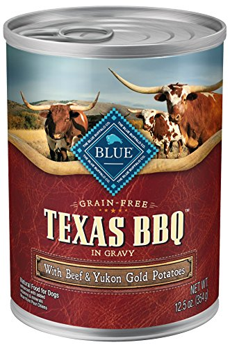 Blue Texas BBQ with USA Beef Wet Dog Food, 12.5oz (Pack of 12) For Sale
