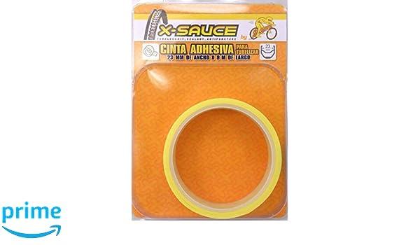 X-Sauce MTB Cinta para tubelizar, Amarillo, 23 mm: Amazon.es: Deportes y aire libre