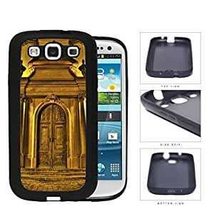 Chateau Gold Castle Door Rubber Silicone TPU Cell Phone Case Samsung Galaxy S3 SIII I9300