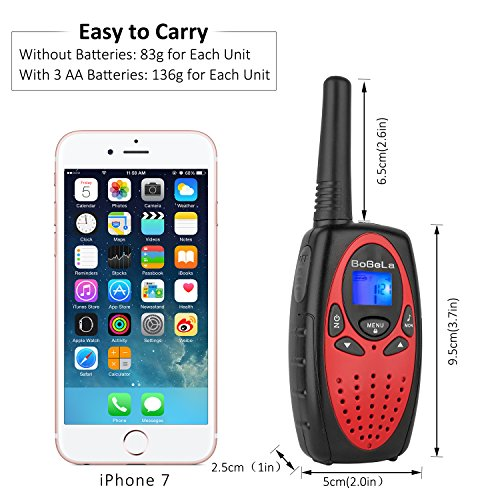 Bobela Kids walkie talkies 4 Pack, Funny and Novelty Birthday Gifts for 3,4,5,6,7,8,9,10,11 Years Old Boy and Girls,Easter Gift, Simple Button and Easy to Use in Football Party(M880 Red) by Bobela (Image #3)