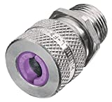 Hubbell SHC1042 Kellems Wire Management Cord Connectors, Straight Male, Aluminum, 1'' Hub, 0.75-0.88'' Diameter