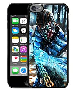 iPod Touch 6 Case ,sub zero mortal kombat x art mortal kombat Black iPod Touch 6 Cover Unqiue And Durable Custom Designed Phone Case
