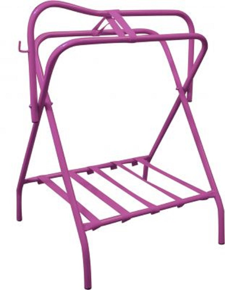 Showman Western Or English Hot Pink Folding Saddle Rack