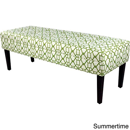 MJL Furniture Designs Kaya Collection Upholstered and Padded Button Tufted Accent Bedroom Bench, Noah Series, Summer Room Accent Custom Upholstered Furniture