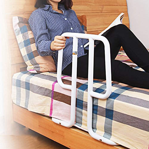 HUKOER Bed handrails Elderly pregnant women bedside help handrail anti-fall drop safe up booster (Drop Pro Rail)