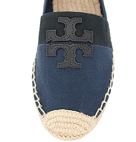 Tory Burch Weston Flat Espadrille Shoes Navy 8.5
