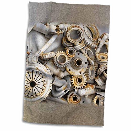 3dRose Florene Steam Punk - Steampunk Rusty Parts - 12x18 Towel (twl_45007_1)