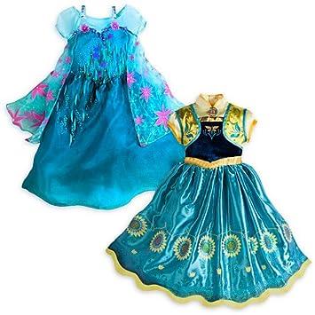 Disney \'s Authentic – Frozen Fever – Elsa Anna Fancy Kostüm Kleider ...
