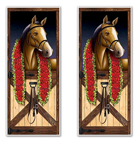 Covers Horse Racing (Beistle 53386 Horse Racing Door Covers 2 Piece, 30