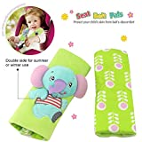 infant car seat cover green - Infant and Baby Car Seat Strap Covers,Stroller Belt Covers,Head Support, Shoulder Pads